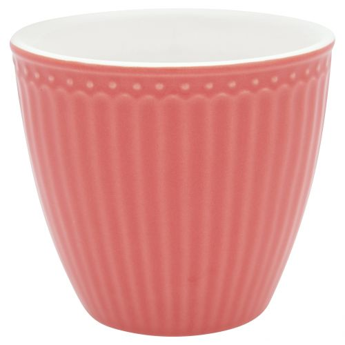 GREEN GATE / Keramický Latte cup Alice Coral 300 ml
