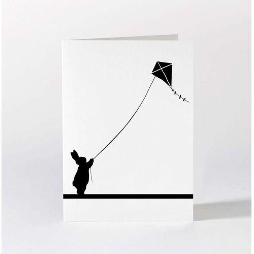 HAM / Čierno-biele prianie Kite Flying Rabbit