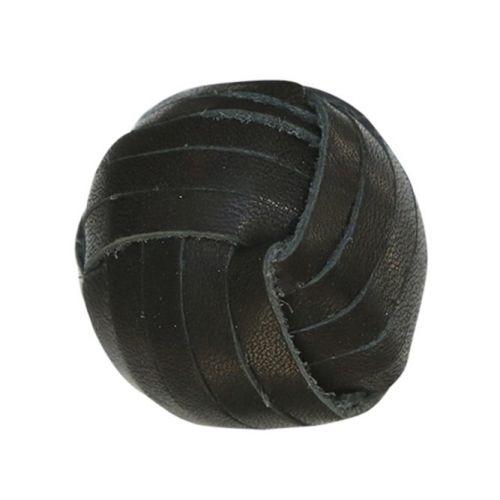 Chic Antique / Koženková úchytka Black ⌀ 3 cm