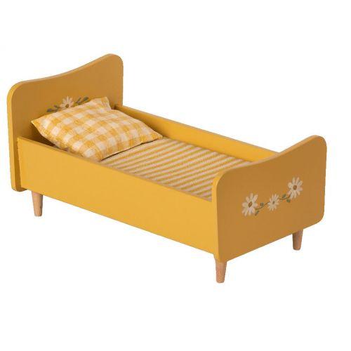 Maileg / Drevená posteľ pre zvieratká Maileg Yellow Mini