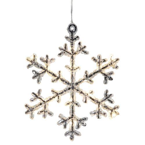 STAR TRADING / Dekoratívna svietiaca vločka Icy 19 cm
