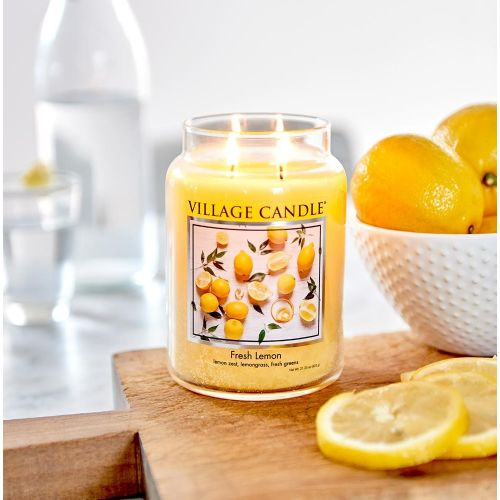 VILLAGE CANDLE / Sviečka Village Candle - Fresh Lemon 602g