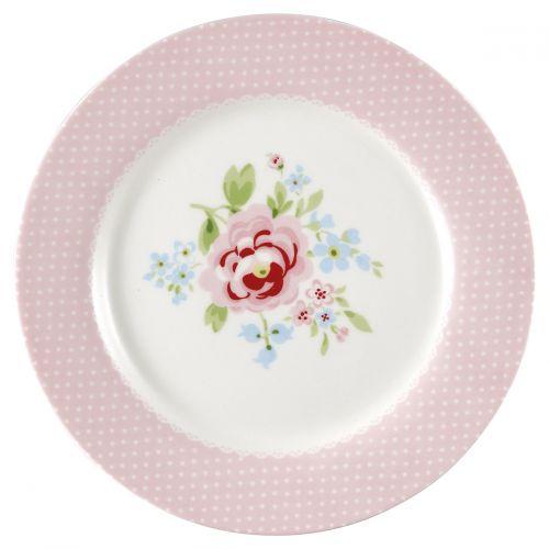 GREEN GATE / Detský keramický tanier Meryl Pale Pink