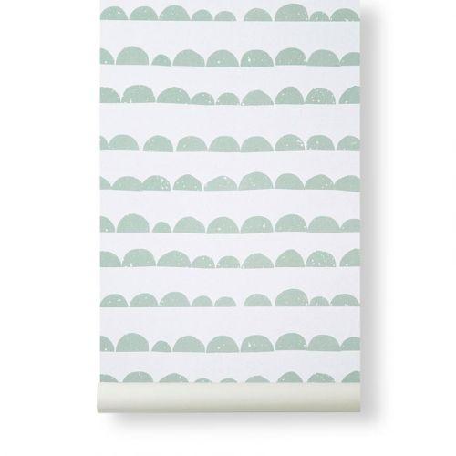 ferm LIVING / Papierová tapeta Half Moon Mint