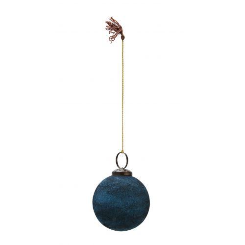 MADAM STOLTZ / Vianočná ozdoba Velvet Blue 5,5cm