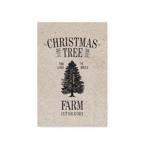 TAFELGUT / Pohlednice Christmas Tree Farm 12x17,5 cm