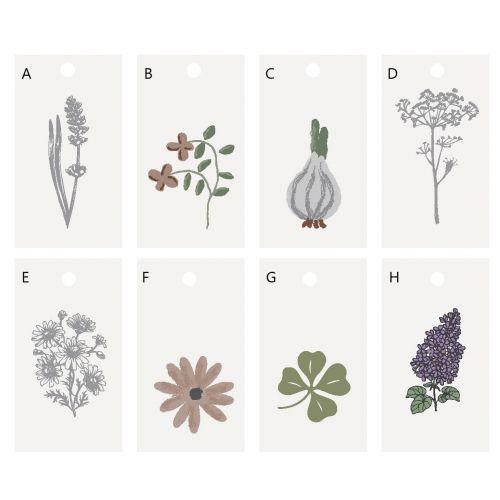 IB LAURSEN / Darčekový štítok Flower/Clover Motives
