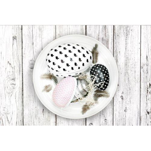 TAFELGUT / Papierové veľkonočné vajíčko Black