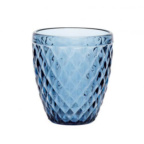 Hübsch / Sklenený svietnik Pattern Blue