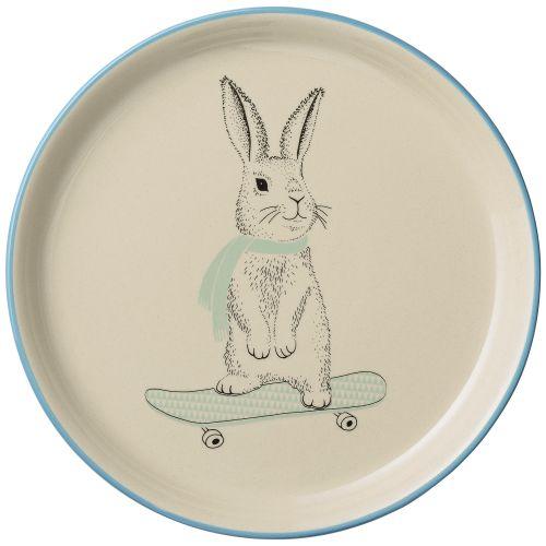 Bloomingville / Keramický tanier Marius Rabbit