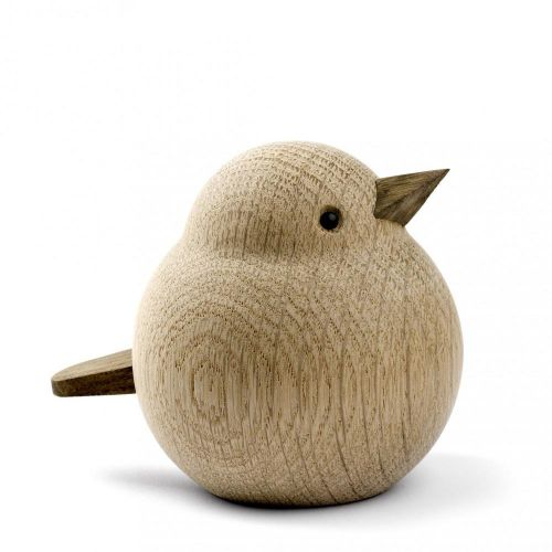 novoform / Drevený vtáčik Mama Sparrow Natural Oak