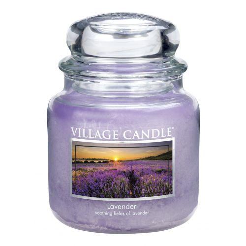 Village Candle / Svíčka ve skle Levandule - střední