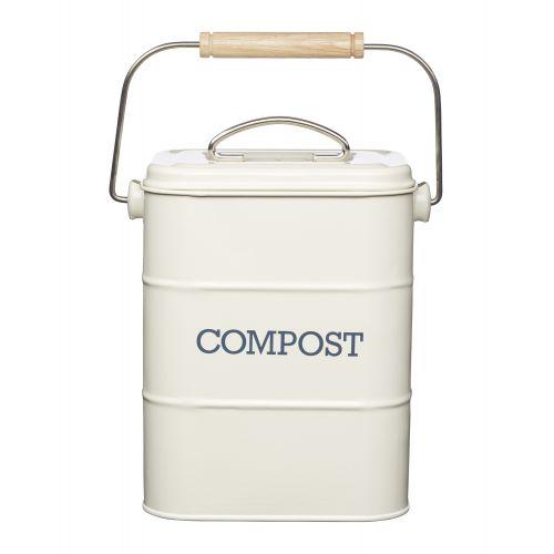 Kitchen Craft / Vedierko na kompost Cream 3,2 l