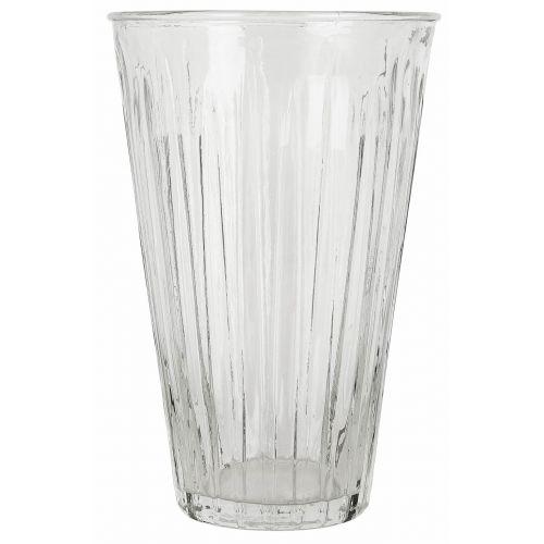 IB LAURSEN / Sklenená váza Grooves Clear