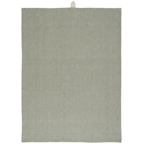 IB LAURSEN / Bavlnená utierka Beige/Green Stripes