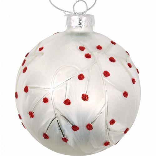 GREEN GATE / Vianočná ozdoba Abi Petit White 8 cm