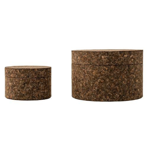 Bloomingville / Okrúhla krabička Dark Cork