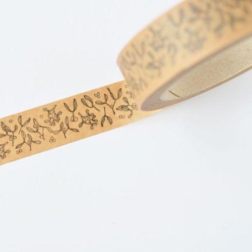 MANKAI Paper / Vianočná lepiaca páska Imelo/hnedá