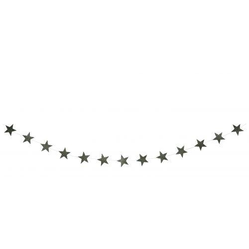 MADAM STOLTZ / Girlanda s hviezdičkami Glitter
