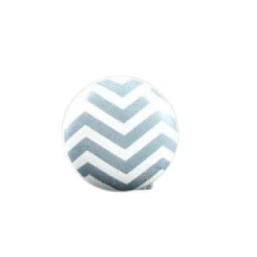 La finesse / Porcelánová úchytka Chevron Grey