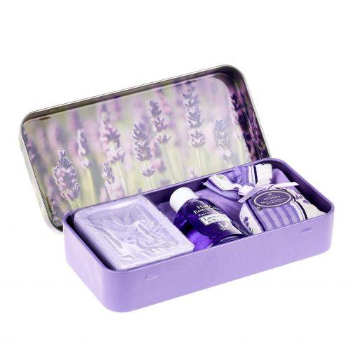 ESPRIT PROVENCE / Darčekový set v krabičke - mydlo a esenciálny olej Lavande