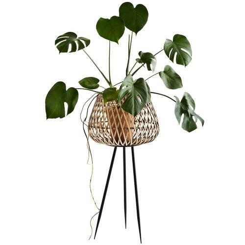 MADAM STOLTZ / Bambusový obal na kvetiny so stojanom Bamboo