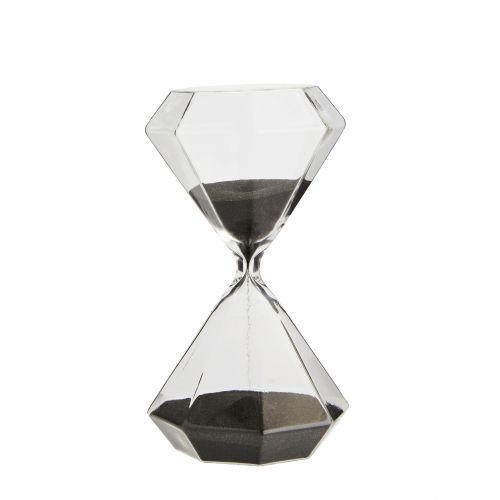 ... MADAM STOLTZ   Presýpacie hodiny Octagon Black 30 min ... fa5fa6de19d