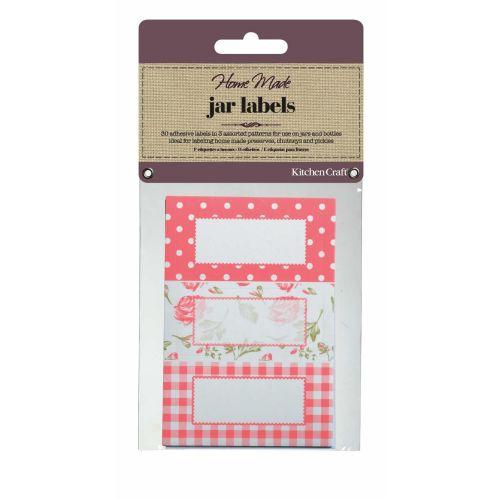 Kitchen Craft / Sada lepiacich štítkov na zaváraniny Roses - 30 ks