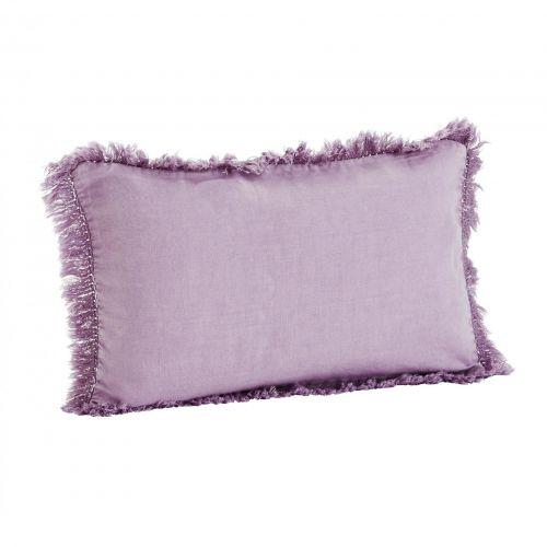 MADAM STOLTZ / Ľanový poťah na vankúš Lilac 30x50cm