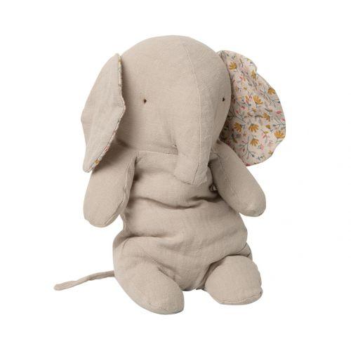 Maileg / Ľanový slon Safari Friends Grey Medium