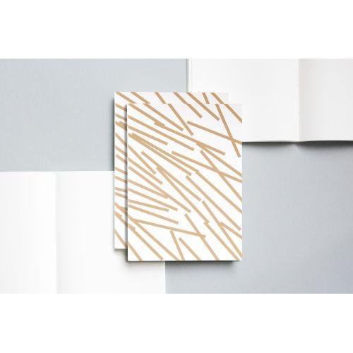 ola / Zápisník v šitej väzbe Gold Lines A5 - 128 strán