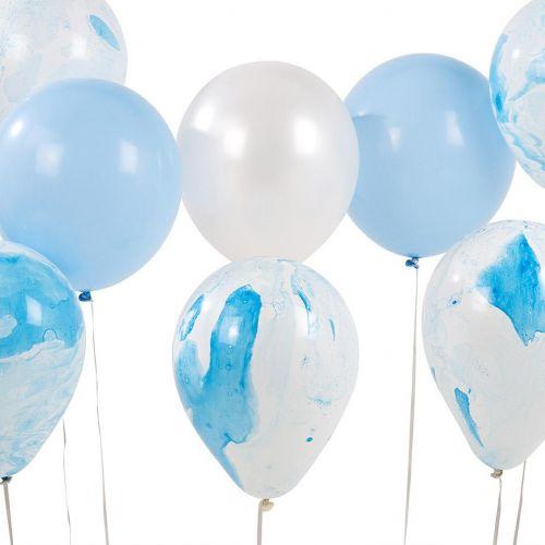 Talking Tables / Nafukovacie balóniky Marble Blue set 12 kusov