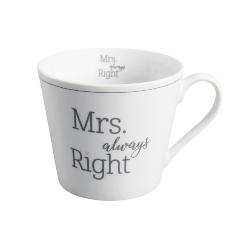 Krasilnikoff / Porcelánový hrnček Mrs. Always Right