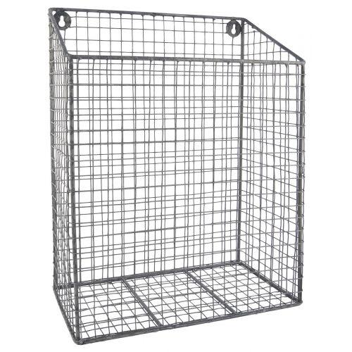 IB LAURSEN / Nástenný drôtený košík Iron Grey