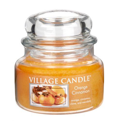 VILLAGE CANDLE / Sviečka v skle Orange Cinnamon - malá