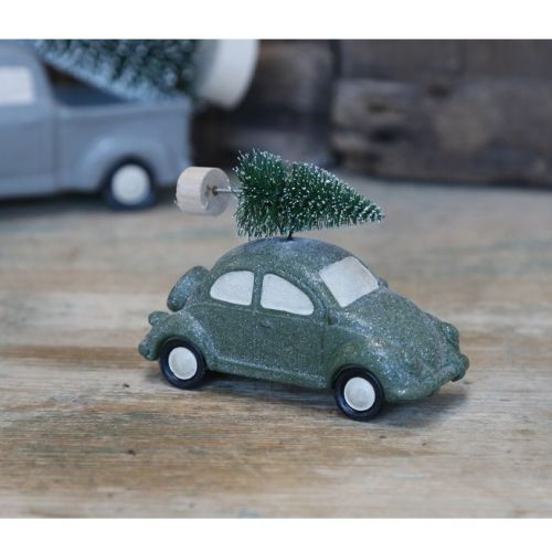 Chic Antique / Adventná dekorácia Green Beetle With Tree