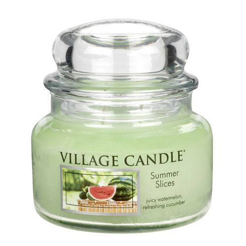 VILLAGE CANDLE / Svíčka ve skle Summer slices - malá