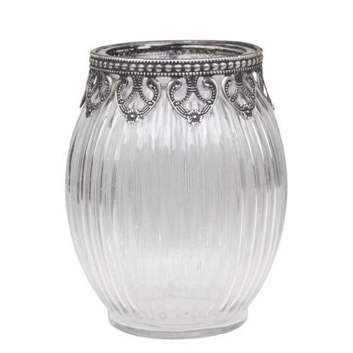 Chic Antique / Sklenená vázička Glass/Silver decor