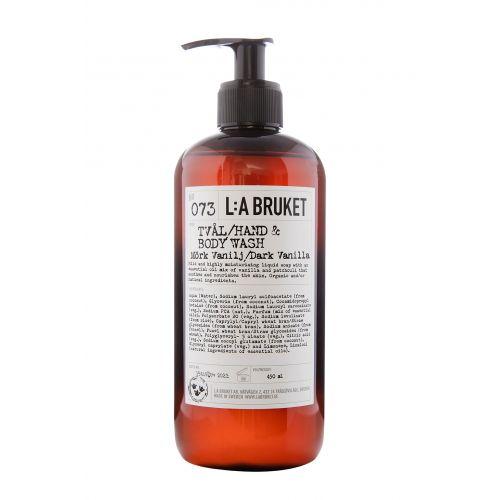 L:A BRUKET / Tekuté mydlo na telo a ruky tmavá vanilka 450 ml