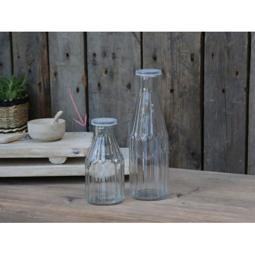 Chic Antique / Sklenená fľaša s viečkom Clear 350ml