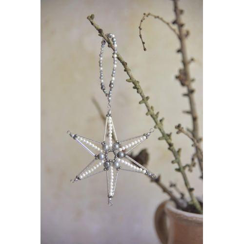 Jeanne d'Arc Living / Závesná hviezda Pearl Star Grey 11 cm