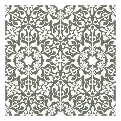 Chic Antique / Papierové servítky Pattern Olive 20 ks