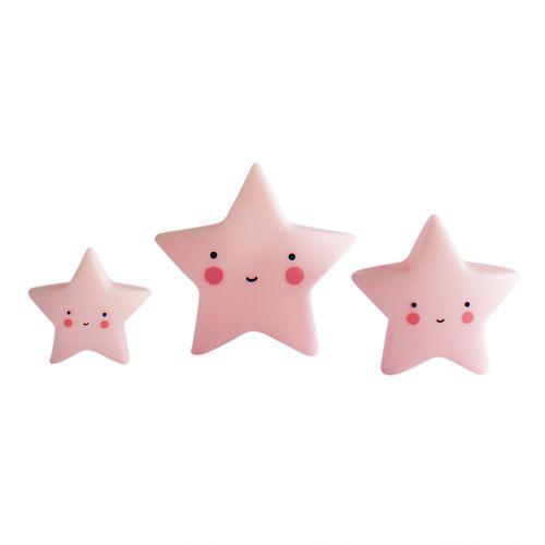 A Little Lovely Company / Mini plastová figúrka Star Pink - 3 ks