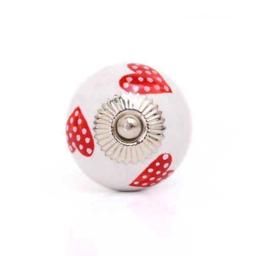 La finesse / Porcelánová úchytka Red Heart