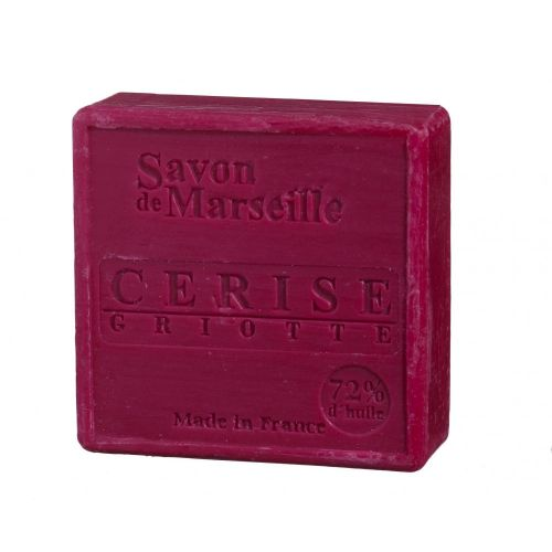 LE CHATELARD / Mýdlo Marseille 100 g čtverec - višeň
