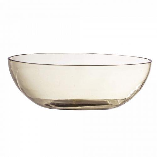 Bloomingville / Sklenená misa Casie Glass Brown ⌀ 15cm