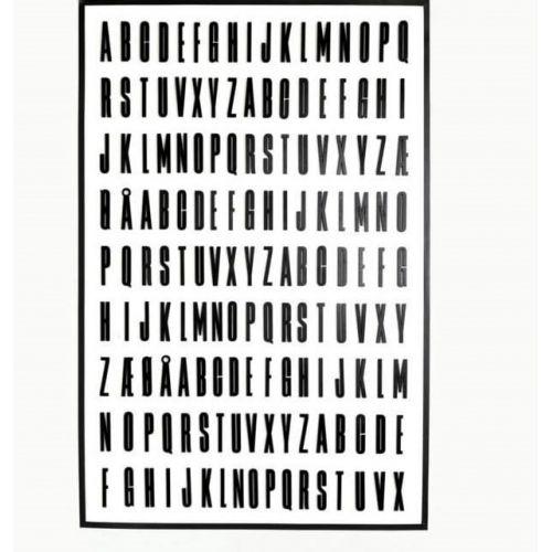 DESIGN LETTERS / Drevené písmena Letters Black