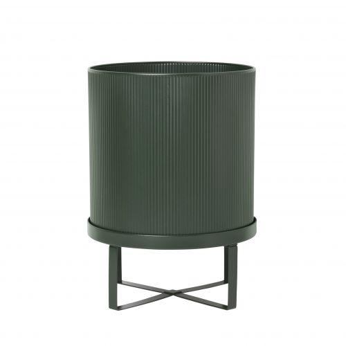 ferm LIVING / Kovový obal na kvetináč Bau Pot Small Dark Green