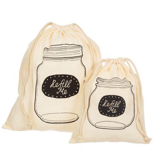 sass & belle / Bavlnená taška na potraviny - set 2 ks