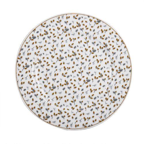 Krasilnikoff / Porcelánový tanier Golden Acorns